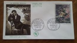 Premier Jour  FDC..  OFFICIER DE CHASSEURS  A  CHEVAL / GERICAULT  1962 .. ROUEN - FDC