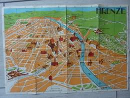 Pianta A Colori Di Firenze Anni '60 - Cartes Topographiques