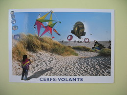 Carte 2002 - Cerfs-volants Cachet Berck-sur-Mer - Expositions