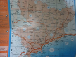"Carta Topografica ""Riviera COTE D'AZUR"" Francia Anni '80 - Cartes Topographiques"