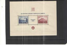 Cecoslovacchia PO 1937 Mostra Fil.Bratislava S/s Scott.239+See Scan On Auto Page; - Cecoslovacchia