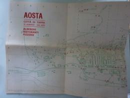 Piantona Della Città Di Aosta E.P.T. 1970 - Cartes Topographiques