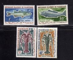 MAURITANIA MAURITANIE 1964 FISHES POISSONS PESCI COMPLETE SET SERIE COMPLETA MNH - Mauritanie (1960-...)
