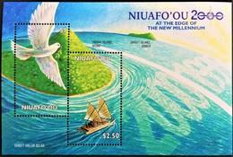 Niuafo'ou 2000** Bl.24. Bird/Boat [19;151] - Oiseaux