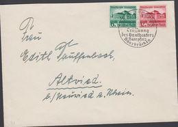1938. Gautheater Saarpfalz. 6+4 Pf + 12+8 Pf. FDC. SAARBRÜCKEN -9.10.38 Eröffnung Des... (Michel DR 673-674) - JF310464 - Allemagne