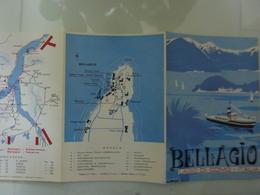 """Pieghevole A Colori """"BELLAGIO Lago Di Como"""" Anni '60 - Carte Topografiche"""