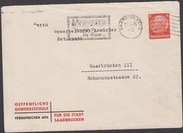 1935. Hindenburg. 8 Pf. SAARBRÜCKEN 23.4.35 Deutsch Ist Die Saar OEFFENTLICHE GEWERBE... (Michel DR 485) - JF310468 - Allemagne