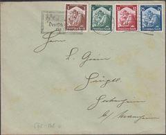 1935. Saarabstimmung. 4 Ex. SAARBRÜCKEN 1.3.35 Deutsch Ist Die Saar  (Michel DR 565-568) - JF310469 - Allemagne
