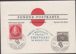 1951. Berlin. 20 Pf. FREIHEITSGLOCKE BERLIN. STUTTGART SOLITUDE-RENNEN GROSSER PREIS ... (MICHEL 77+) - JF310567 - Lettres
