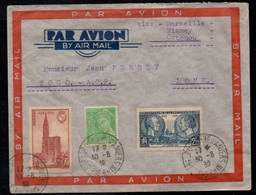 STRASBOURG  / 1939 LETTRE AVION POUR LOME - TOGO (ref LE3336) - France