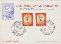 1956. Berlin. 10 + 25 Pf. BUNDESTAG IN BERLIN. STUTTGART Killesberg Deutsche Fernsehs... (MICHEL 129-130) - JF310568 - Lettres
