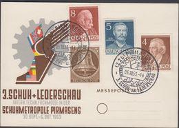 1953. Berlin. 5 Pf. FREIHEITSGLOCKE BERLIN + 4, 5 + 8 Pf. Männer Aus Der Geschichte B... (MICHEL 101, 94+) - JF310570 - Lettres