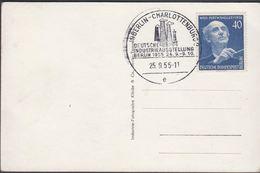 1955. Berlin. 40 Pf. Wilhelm Furtwängler. BERLIN CHARLOTTENBURG DEUTSCHE INDUSTRIEAUS... (MICHEL 128) - JF310572 - Lettres