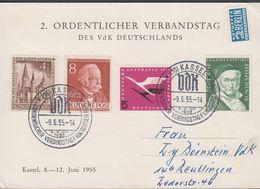 1955. Berlin. 4+1 Pf. DER KAISER-WILLHEIM-GEDÄCHTNISKIRCHE + 10 + 5 + 8 Pf. KASSEL 2.... (MICHEL 106+) - JF310573 - Lettres