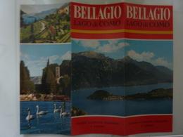 """Pieghevole A Colori """"BELLAGIO Lago Di Como"""" Anni '60 - Dépliants Touristiques"""