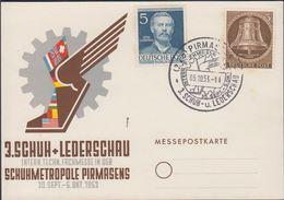 1953. Berlin. 5 Pf. FREIHEITSGLOCKE BERLIN + 5 Pf. OTTO LILIENTHAL. PIRMASENS 3. SCHU... (MICHEL 101, 92) - JF310574 - Lettres