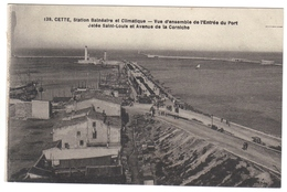 34 Cette Sete Station Balnéaire  Vue D'ensemble De L' Entrée Du Port Jetée St Saint Louis Et Avenue De La Corniche - Sete (Cette)