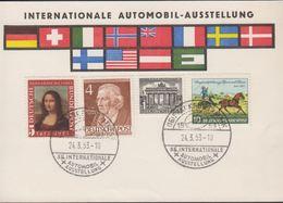 1953. Berlin. 4 Pf. CARL FRIEDRICH ZELTER. FRANKFURT AM MAIN 36. INTERNATIONALE AUTOM... (MICHEL 91+) - JF310581 - [5] Berlin