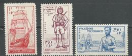 NLLE CALÉDONIE Scott B10-B12 Yvert 190-192 (3) *VLH Cote 10,00 $ 1938 - Neufs