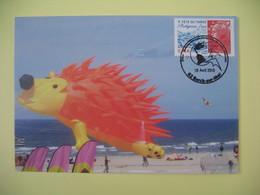 Carte 2010 -  24 ème Rencontres Internationales De Cerfs-volants Cachet Berck-sur-Mer - Expositions
