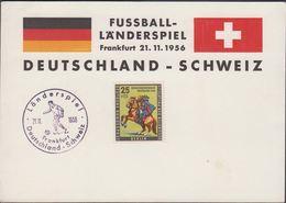1956. Berlin. 25 + 10 Pf. TAG DER BRIEFMARKE. Länderspiel Deutschland - Schweiz Frank... (MICHEL 158) - JF310607 - Covers