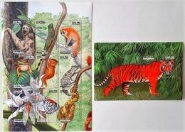 Madagascar 1999** Mi.2160-68 + Bl.923 African Animals , MNH [8;80] - Briefmarken