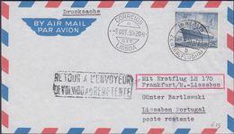 1955. Berlin.  25 Pf. M.S. BERLIN. Mit Erstflug LH 170 Köln/Bonn - Lissabon. WAHN (RH... (MICHEL 127) - JF310641 - Lettres