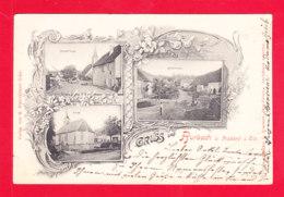 E-Allemagne-660Ph76  Litho, Gruss Aus BURBACH, Multivues, Cpa Précurseur 1899 - Allemagne