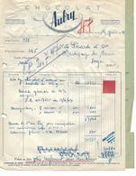 Facture, Bon Ravitaillement Et Bon SNCF / Militaria 1947 /  54 MONTCEL / Chocolat AUBRY / 88 Gerard MARTIGNY - Documents