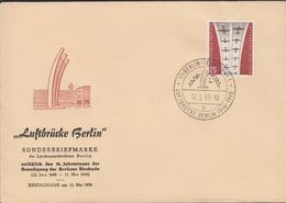 1959. Berlin. 25 Pf. LUFTBRÜCKE BERLIN-TEMPELHOF LUFTBRÜCKE BERLIN 1948-1949 12.5.59.... (MICHEL 188) - JF310677 - Lettres