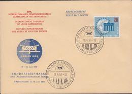 1959. Berlin. 20 Pf. KOMMUNALER WELTKONGRESS BERLIN-NW 40 - KONGRESSHALLE KOMMUNALER ... (MICHEL 189) - JF310678 - [5] Berlin