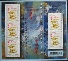 FR. 2012 - FEUILLE F4631 - Nouvel An Chinois Année Du Dragon - 5 TIMBRES NEUFS** à 0,60€  - TBE - Blocks & Kleinbögen