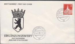 1959. Berlin. 8 Pf. RATHAUS NEUKÖLLN BERLIN-CHARLOTTENBURG 11.2.59. FDC.  (MICHEL 187) - JF310679 - Berlin (West)
