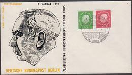 1959. Berlin. 10 + 20 Pf. HEUSS BRACKENHEIM (WÜRTH) MITTEN IM SCHÖNEN ZABERGÄU 31.1.5... (MICHEL 183-184) - JF310680 - Berlin (West)