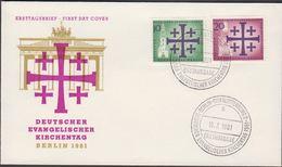 1961. Berlin. 10 + 20 Pf. DEUTSCHER EVANGELISCHER KIRCHENTAG BERLIN-CHARLOTTENBURG ER... (MICHEL 215-216) - JF310682 - Berlin (West)