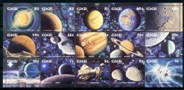 Ciskei, 1991, Solar System, Planets, Space, Universe, MNH Sheet, Michel 192-206 - Ciskei
