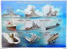 Liberia 2001**Mi.3835-43. Sailing , MNH [3;21] - Schiffe