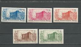 NLLE CALÉDONIE Scott B5-B9 Yvert 175-179 (5) *VLH Cote 70,00 $ 1939 - Nouvelle-Calédonie