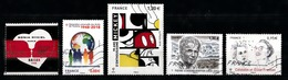 France 2018 : Timbres Yvert & Tellier N° ???? - ???? - ???? - ???? Et ???? Avec Oblitérations Mécaniques. - Frankreich