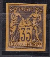 SAGE 35C REIMPRESSIONS GRANET BRUN/JAUNE. NSG COTE YT93d 120E - 1876-1898 Sage (Type II)