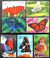 Bhutan 1999** Mi.1917-23 Butterflies ,MNH [21;164] - Schmetterlinge