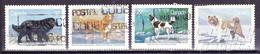 CANADA 1988 TAHITAN BEAR DOG NOVA SCOTIA RETRIEVER CANADIAN ESKIMO DOG NEWFOUNLAND DOG CANCELLED SC# 1217-1220 - Hunde
