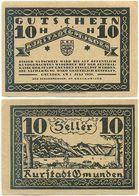 Gmunden Am Traunsee, 1 Schein Notgeld 1920, Ortsansicht, Österreich 10 Heller - Autriche