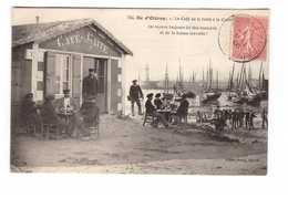 17 Ile Oleron Le Café De La Gaitée à La Cotiniere Cpa Carte Animée Cpa Edit Braun N°734 Cachet 1906 - Ile D'Oléron