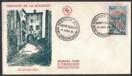 YN353    FRANCE FDC 1965 *  SAINT FLOUR - SAINT DENISE (REUNION) - FDC