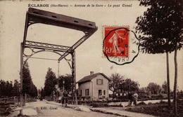 52 - ECLARON - Avenue De La Gare - Le Pont Canal - Eclaron Braucourt Sainte Liviere