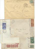 FRANCE énorme Lot De + De 2300 Lettres La Plupart Entières Sage, Semeuses, Paix, Mouchon, Pasteur, Iris, Gandon, Pétain - Marcophilie (Lettres)
