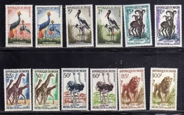 NIGER 1959 1960 AFRICAN FAUNA ANIMALS ANIMAUX ANIMALI COMPLETE SET SERIE COMPLETA MNH - Niger (1960-...)