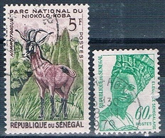 Senegal 1960 / 76  -  Yvert 198 + 423  ( Usados ) - Senegal (1960-...)