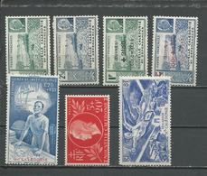 NLLE CALÉDONIE Scott 216A-B, B12A-B, B13, CB3, C14 Yvert 193-4, 246-7, 248, PA38, PA54 (7) * Cote 5,60 $ 1941-6 - Neufs